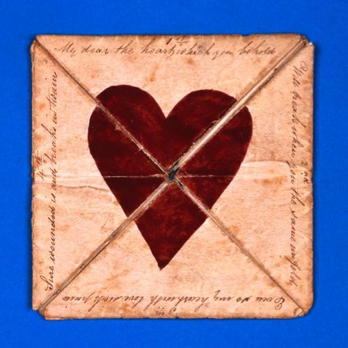 Una tarjeta romántica de alrededor del año 1790