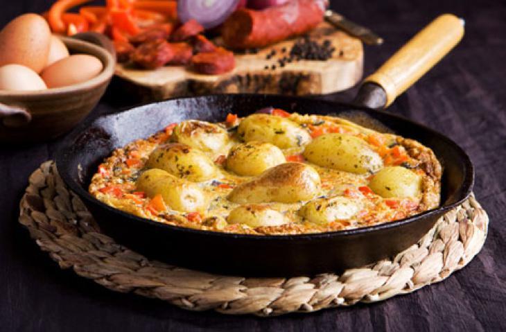 La tortilla de patatas enteras