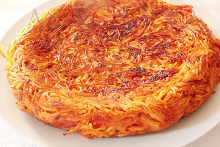 Tortilla de espaguetis (Foto: Alacarta)