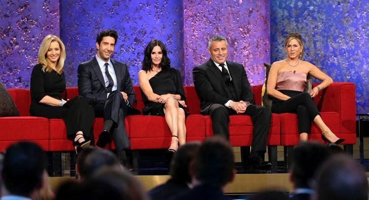 Kudrow, Schwimmer, Cox, LeBlanc y Aniston en la reunión de 'Friends'