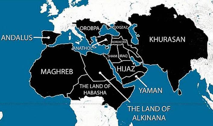 Este es el territorio que reclama el Estado Islámico