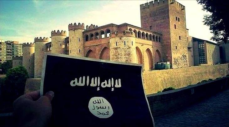El Estado Islámico, frente a la Aljafería de Zaragoza
