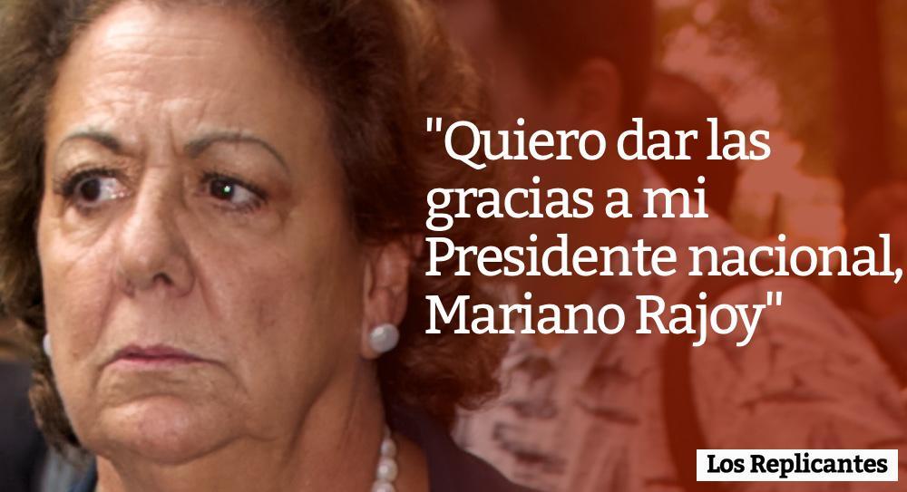 Barberá, agradecida con Rajoy