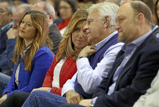 Susana Díaz, al frente de los barones críticos en el PSOE