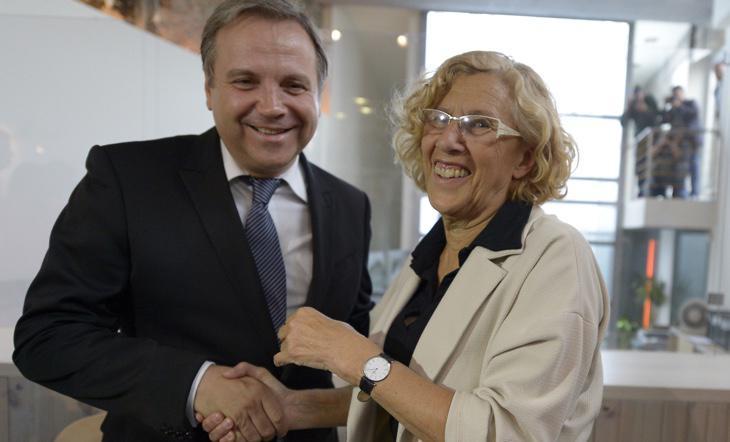 Carmena y Carmona, Ahora Madrid y PSOE