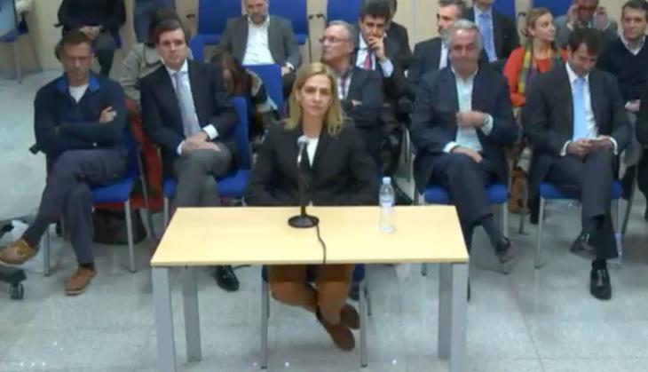 La Infanta Cristina declara en el juicio