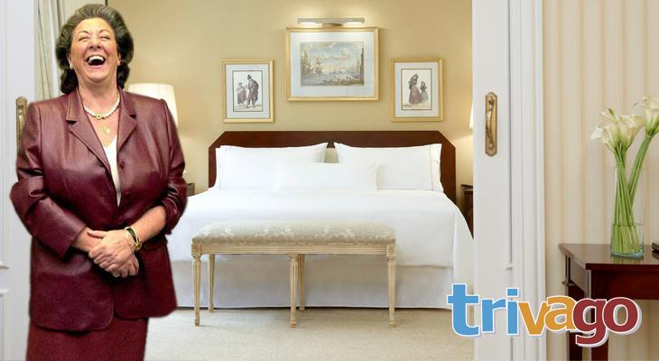 Rita Barberá disfrutando de su modesta habitación