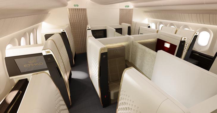Suites privadas en el avión