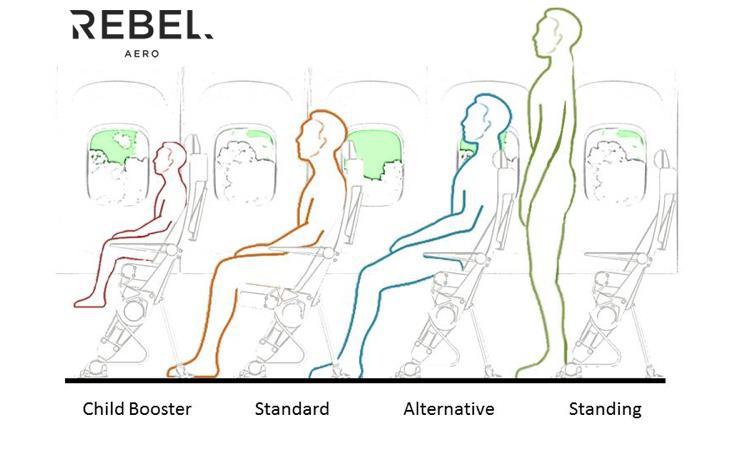 ¿Desea volar sentado o de pie?