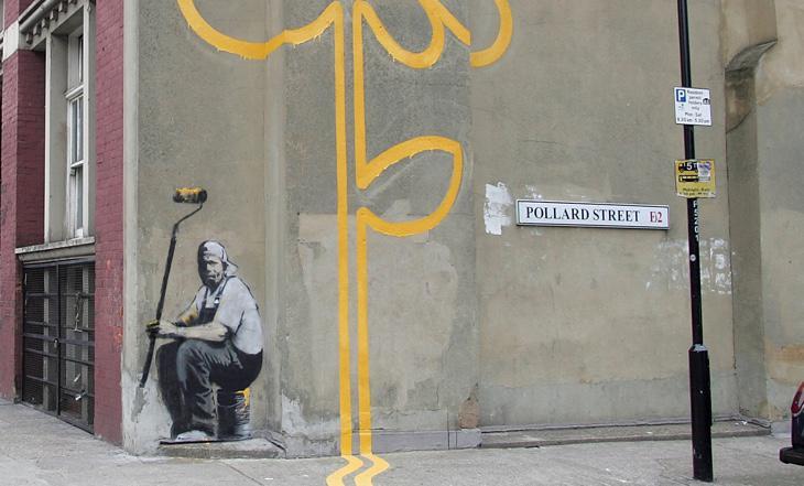 Una de las obras de Banksy en Londres