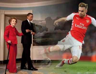 Muere Nancy Reagan tras el último gol de Ramsey... ¿Casualidad?