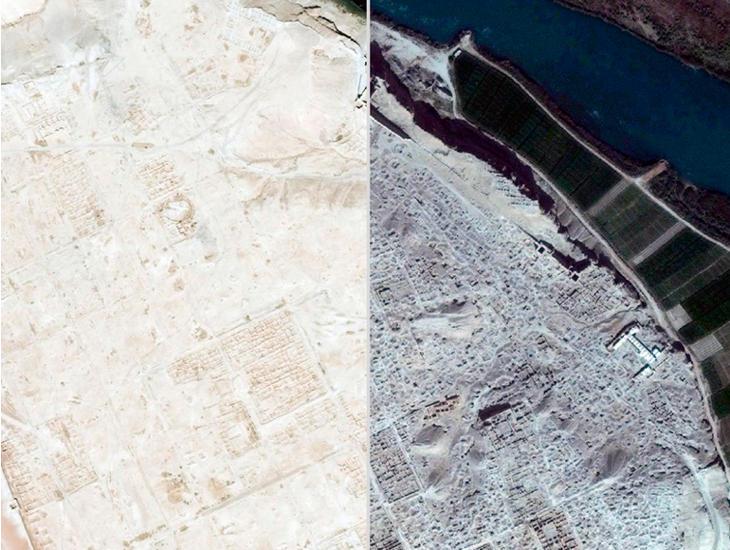 Dura-Europos en 2011 y en 2014