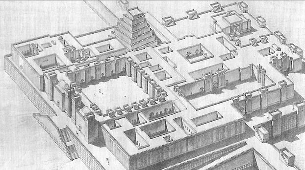 Reconstrucción del palacio del rey Senaquerib
