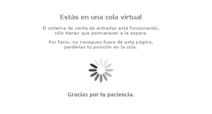 'No salgas de la cola virtual, ya te expulsamos nosotros'