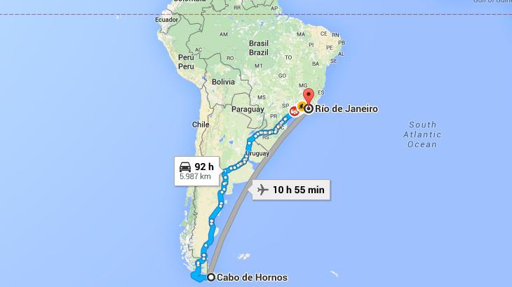 El recorrido del pingüino de Magallanes