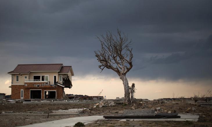 Los edificios aguantan en los alrededores de Fukushima, cinco años después