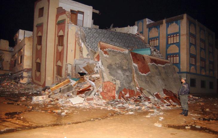Efectos del terremoto de 6,5 que sufrió el norte de Marruecos en 2004