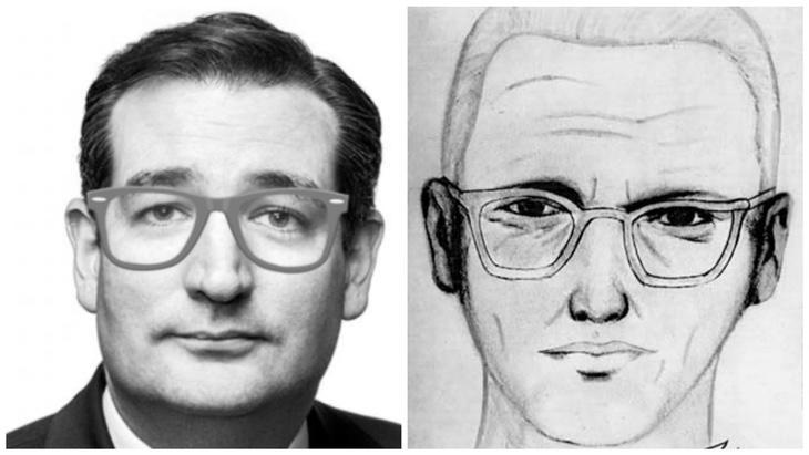 ¡Venga ya, Ted Cruz y el Zodiac Killer son clavados!