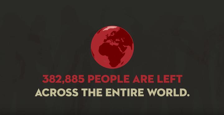382.885 personas quedan vivas en todo el mundo