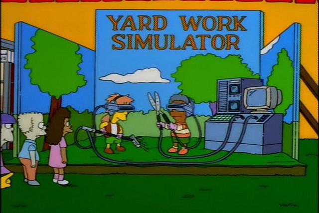 Mira, mamá, juego con mi melocotonero pero en realidad virtual