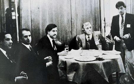 Pablo Escobar en la investidura de González