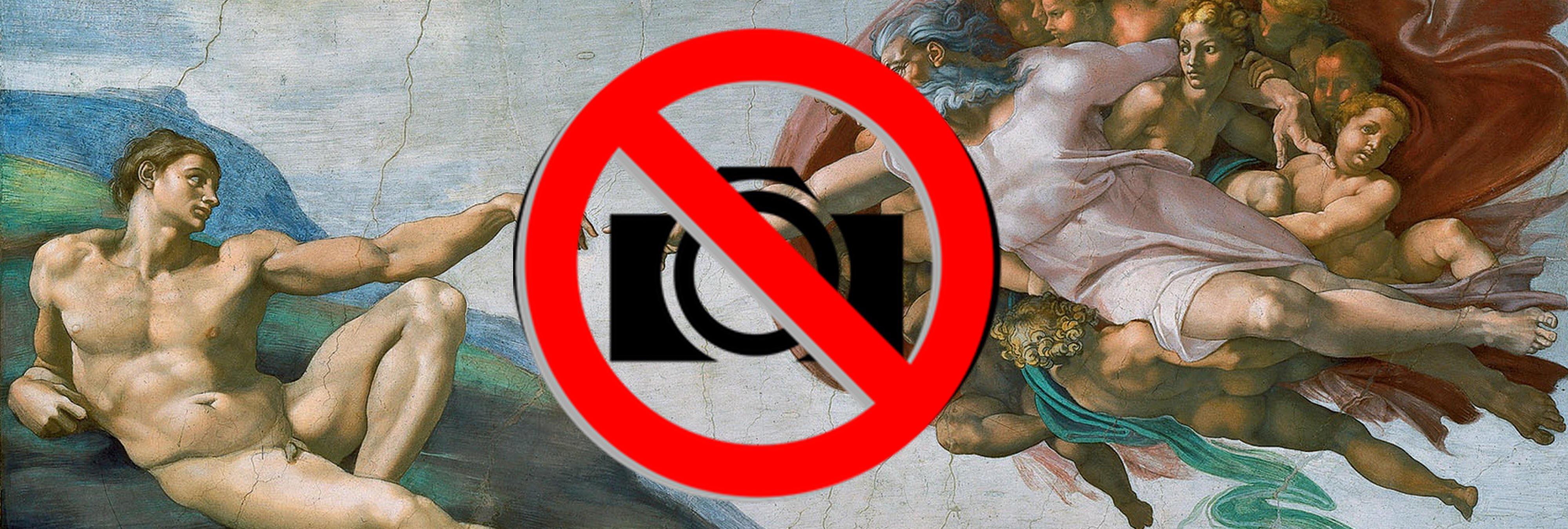 No puedes hacer fotos en los museos, pero no por lo que tú crees
