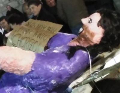 Pablo Iglesias, apedreado en Robledo de Chavela