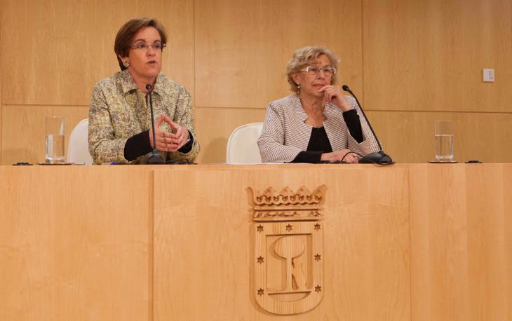 Carmena y Causapié durante la rueda de prensa