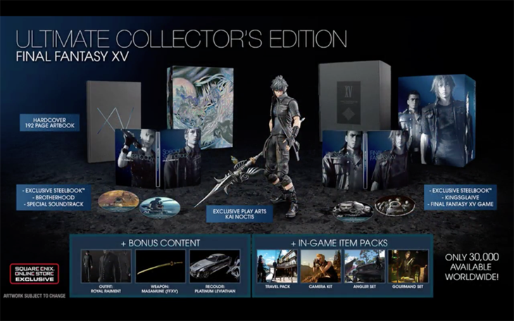 La 'Ultimate Collector's Edition' es la edición más especial de 'Final Fantasy XV'