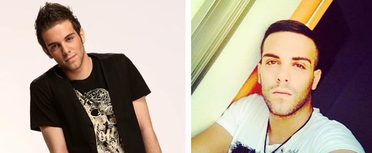 Una foto de Manu en 'OT' y otra colgada en sus redes sociales