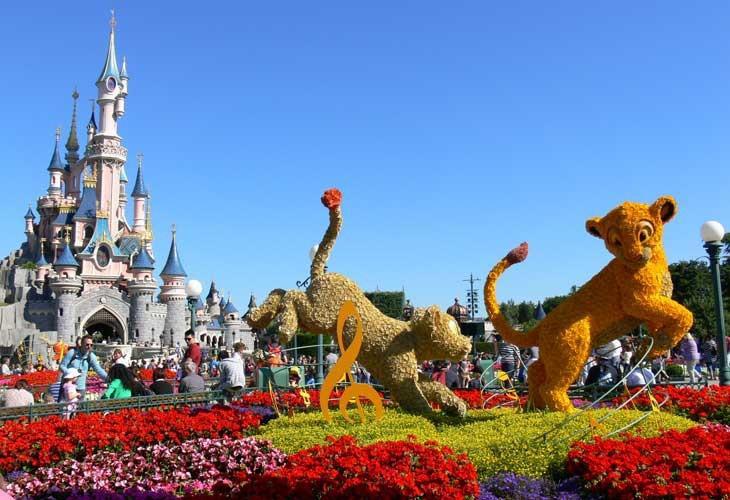 El castillo principal de Disneyland París