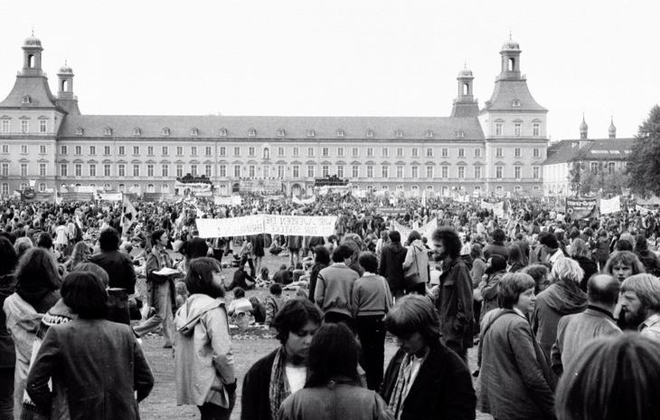 Protesta antinuclear en la ciudad alemana de Bonn (1979)