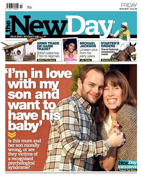 Portada de 'The New Day' que relata el caso de Ben y Kim