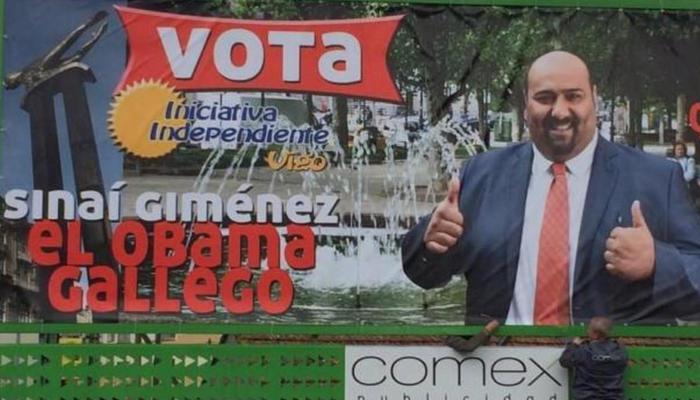 Sinaí Giménez en campaña electoral