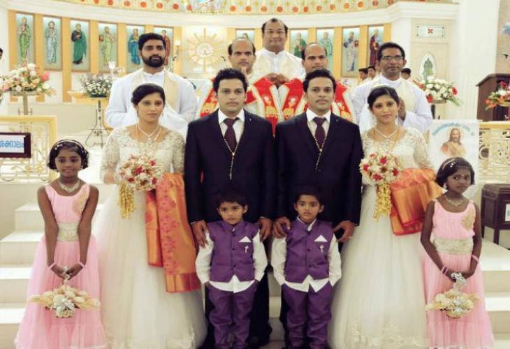 La boda simétrica de India