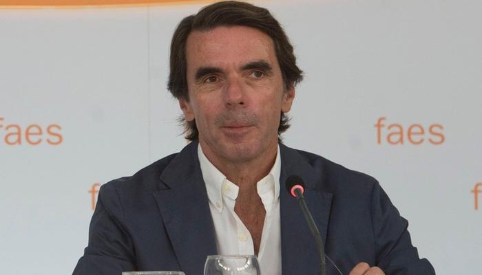 José María Aznar en una conferencia de FAES