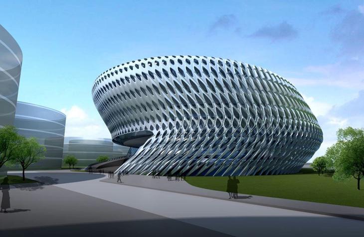 El edificio del Juzgado de lo civil, diseñado por Zaha Hadid