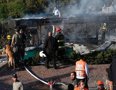 Un autobús explota en la zona israelí de Jerusalén