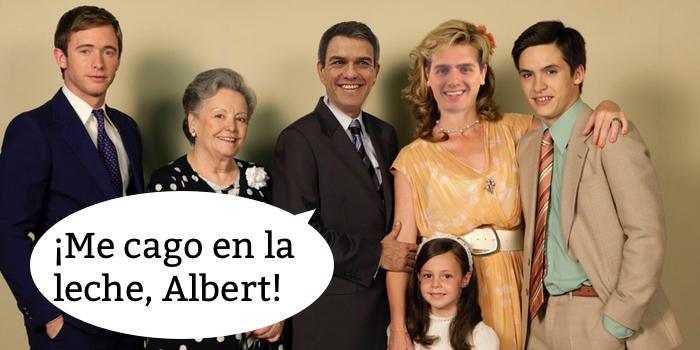 Pedro Sánchez y Albert Rivera en su cameo en 'Cuéntame'