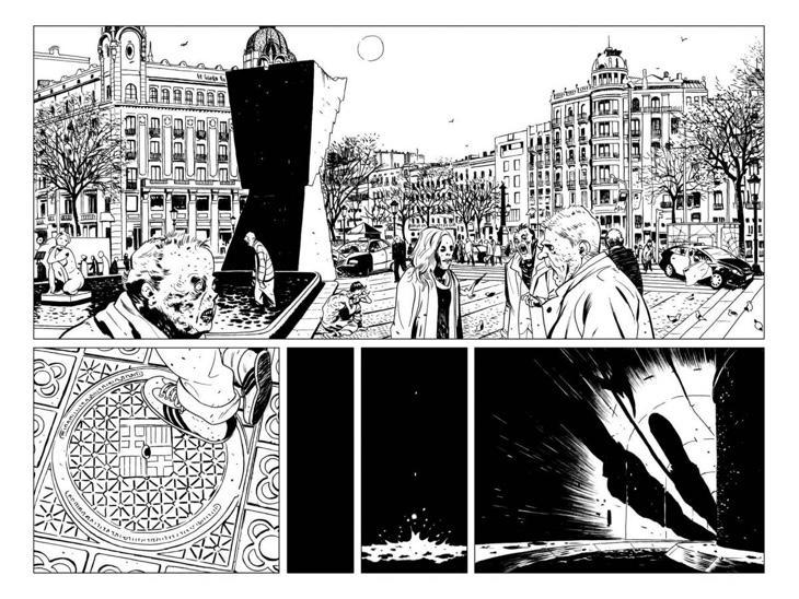 Varias viñetas del cómic