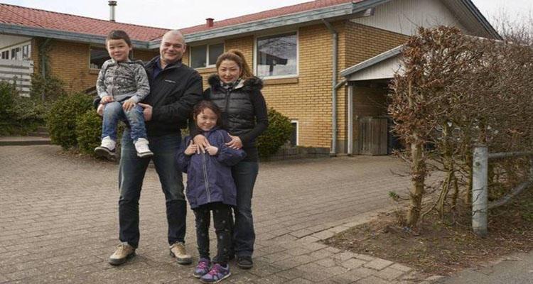 Hans Peter Christensen y sufamilia