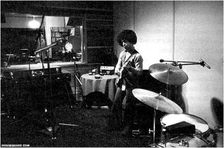 Prince en el estudio en los 70.