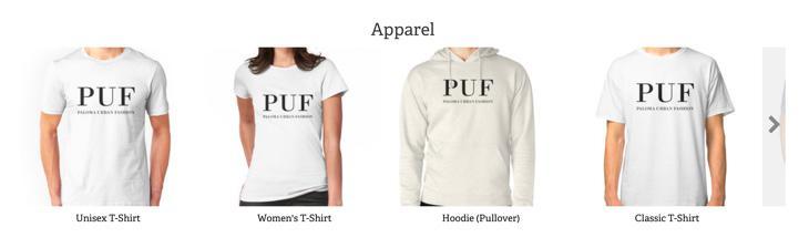 Diseños de PUF - Paloma Urban Fashion