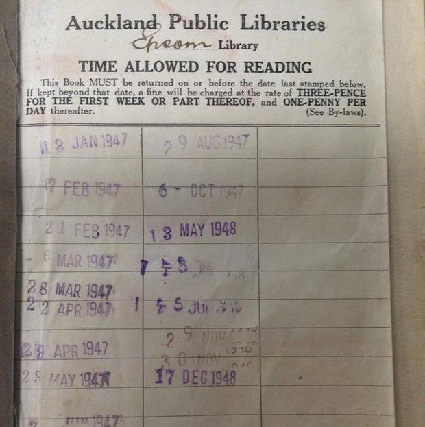El registro de los préstamos del libro devuelto