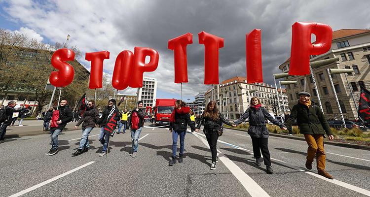 Manifestación en contra del TTIP