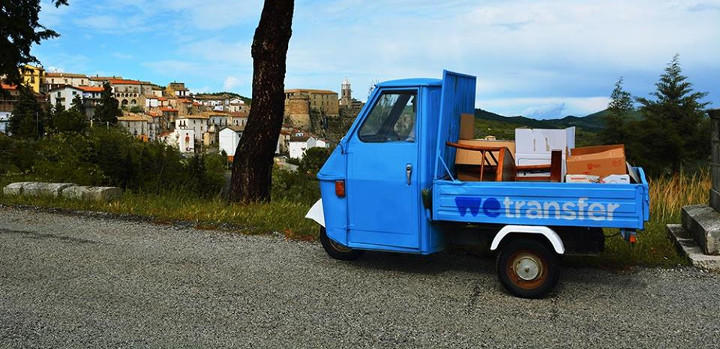 WeTransfer es una camioneta de reparto