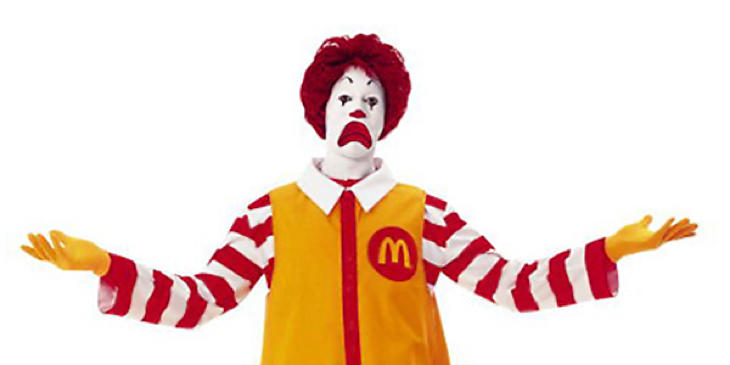 Ronald está triste por la crisis de McDonald's
