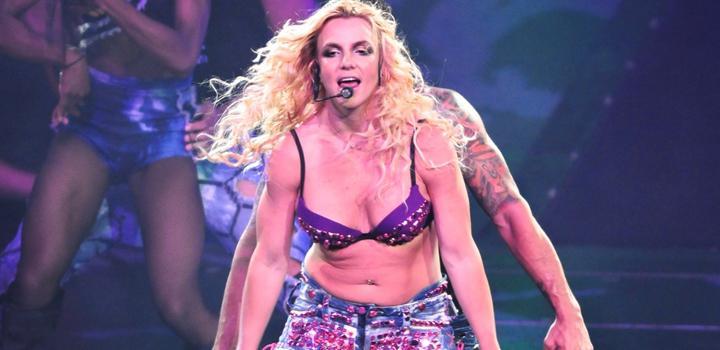 Britney durante su última gira mundial 'Femme Fatale Tour'