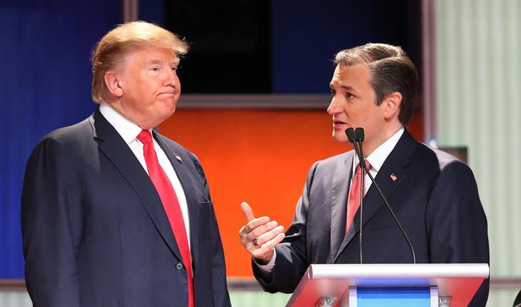 Cruz y Raya. Perdón, Cruz y Trump