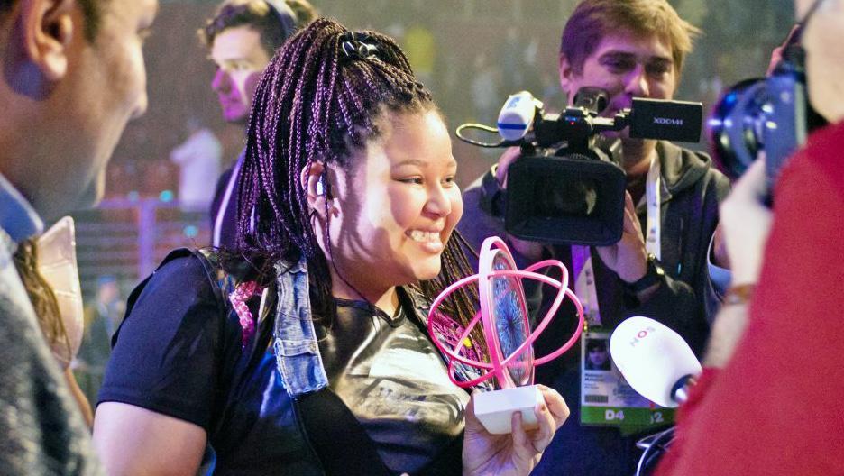 Destiny ha interpretado su tema ganador en la rueda de prensa